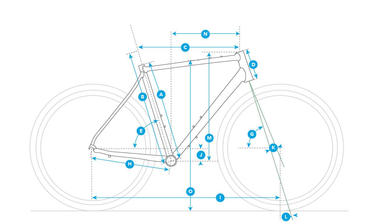Geometria roweru Fuji Jari
