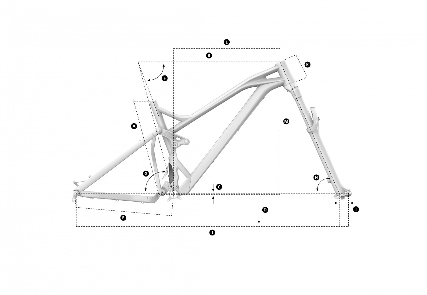 Geometria roweru Mondraker Dune