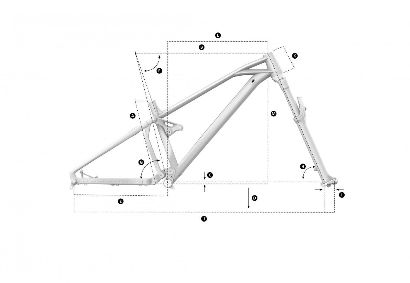 Geometria roweru Mondraker Foxy