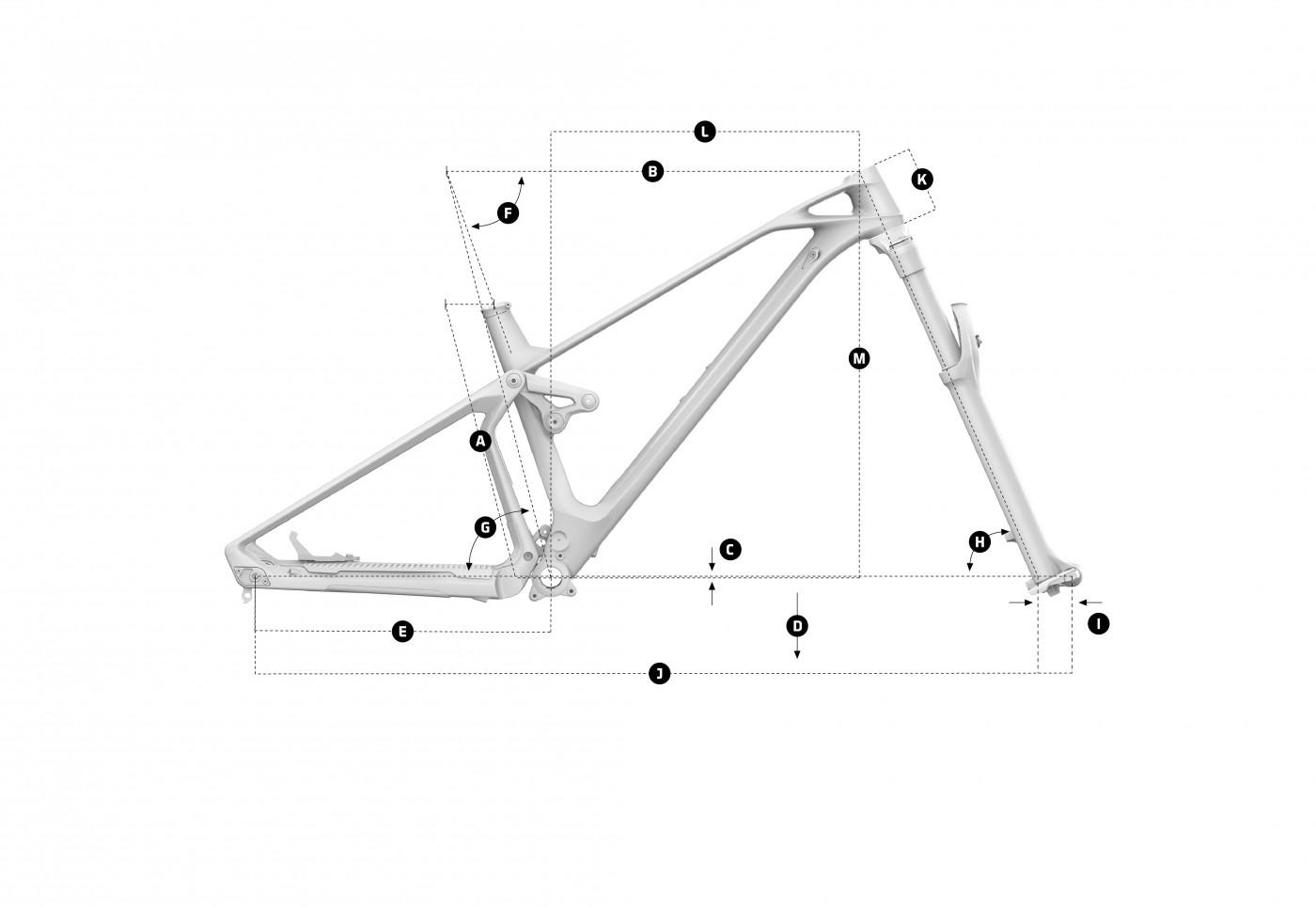 Geometria roweru Mondraker SuperFoxy